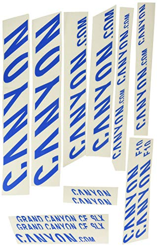 Ecoshirt 48-4IGK-XK6W Aufkleber Gran SLX R292 Stickers Aufkleber Decals Autocollants Adesivi Canyon Bike, Blau
