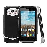 "DOOGEE TITANS2 DG700 Negro 3G Teléfono Móvil Smartphone Libre Impermeable 4.5"" IPS QHD Pantalla y LED Indicador Doble Tarjeta SIM Android 5.0L MTK6582 1.3GHz Quad Core 1GB RAM 8GB ROM 8.0MP Cámara OTG OTA GPS Multi-idiomas"