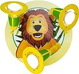Elobra Kinderzimmerlampe Löwe, Strahler, gelb grün, 131220