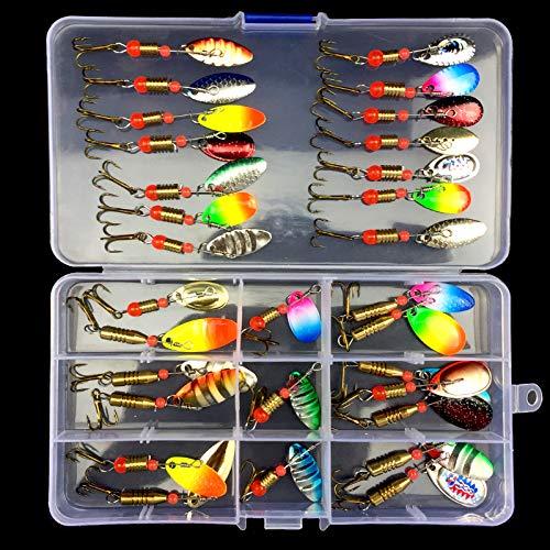 SKYSPER Kit Leurres de Pêche avec Boîte à Outils...