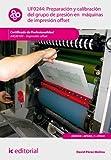 Preparación y calibración del grupo de presión en máquinas de impresión offset. ARGI0109