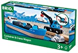 BRIO World 33534 - Containerschiff mit Kranwagen