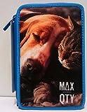 Astuccio 3 Cerniere Animals Max Qty.Seven (Azzurro)