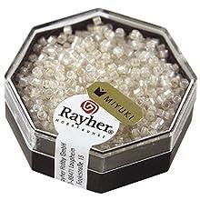 Rayher Miyuki Delica 2 2 mm Rainbow transp. blanc opal