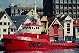 535067 Norwegian owned Tug HAABAS At Stavanger A4 Photo