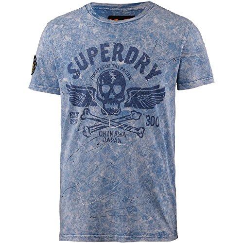 Superdry Herren B Boy Festival Bag Geldbörse, Blau (Navy) 7x16x23 cm