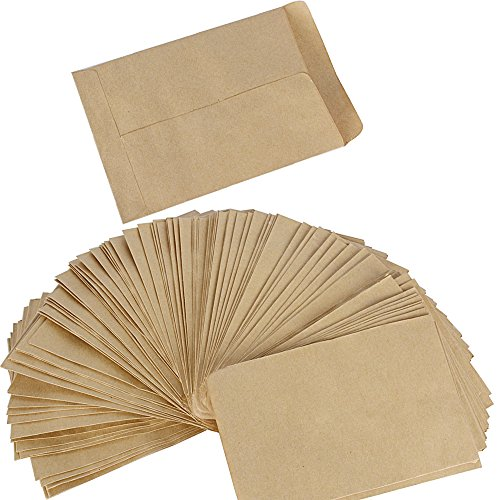 (13 x 9cm) 100pcs Pochette Sac Sachet en Kraft Papier Vintage Mini Enveloppe pour Semences ou Bonbons