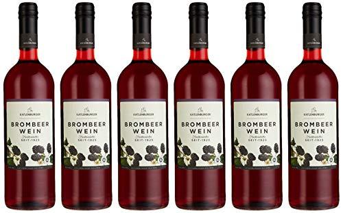 Katlenburger Brombeerwein 6x 0,75l, reiner Fruchtwein, Beerenwein, lieblicher Obstwein mit reintöniger Brombeer-Note, vollmundig und aromatisch im Geschmack, 8,5% vol.
