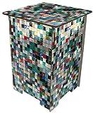 Artra Hocker, Photohocker, Beistelltisch Motiv Mosaikfliesen (bunt)