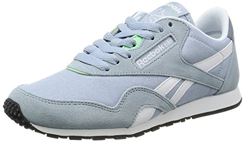 Reebok Damen Cl Nylon Slim Hv Laufschuhe, Grau (Grey/Stonewash/White), 38.5 EU - Reebok Lauflernschuhe