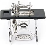 Dollhouse Sewing Machine - TOOGOO(R)Dollhouse Miniature Sewing Machine Alloy Silver