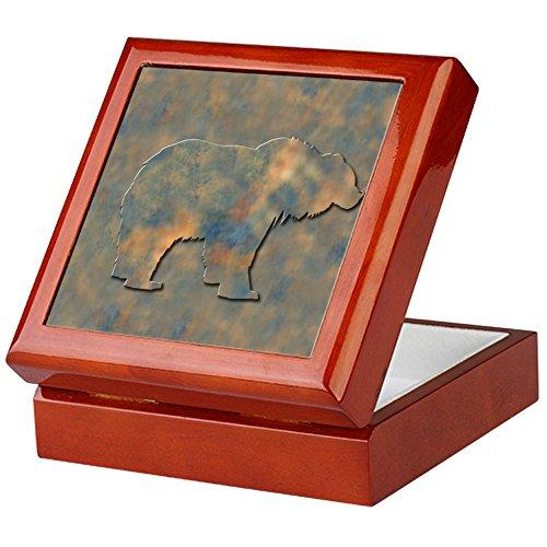 CafePress-Bär Andenken Box-Keepsake Box, fertig Hartholz Jewelry Box, Samt Gefüttert Memento Box, mahagoni, Standard