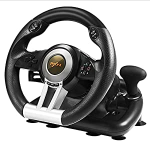Aiya Game Steering Wheel Driving Force Racing Wheel Computer Simulation Racing Simulation Car Support PC/PS4/PS4…