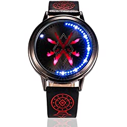 XINGYUNSHI Boys Anime Watches Prairie Fire of Ice Cold Air of Waterproof LED Touch Screen Watches Couples Watches