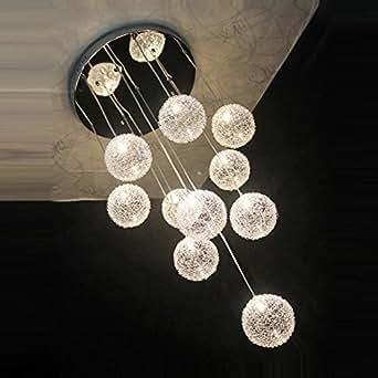 35 6 cm new 10 lights aluminium draht glas kugeln parlor. Black Bedroom Furniture Sets. Home Design Ideas