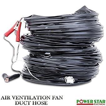 Portable Industriel ventilateur Echappement Axial Ventilateur Extracteur Antidéflagrant (EX)Ventilation Ventilateur Avec Conduit 25.4cm - Conduit de 25cm uniquement