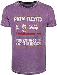 Pink Floyd Herren T-Shirt Retro Stripes Mens Burnout lila