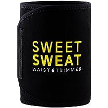 Sweet Sweat - Cinturón Quemagrasas para Tratamiento Pérdida de Peso Acelerador Quemagrasas Negro Aumenta Efecto de Batidos para Pérdida de Peso