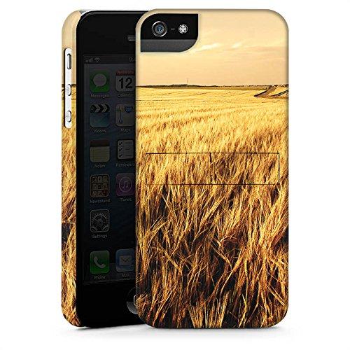 Apple iPhone X Silikon Hülle Case Schutzhülle Kornfeld Landschaft Feld Premium Case StandUp