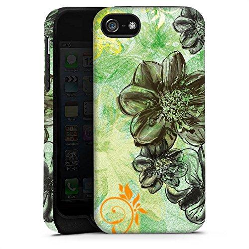 Apple iPhone X Silikon Hülle Case Schutzhülle Blumen Ornamente Blüten Tough Case matt