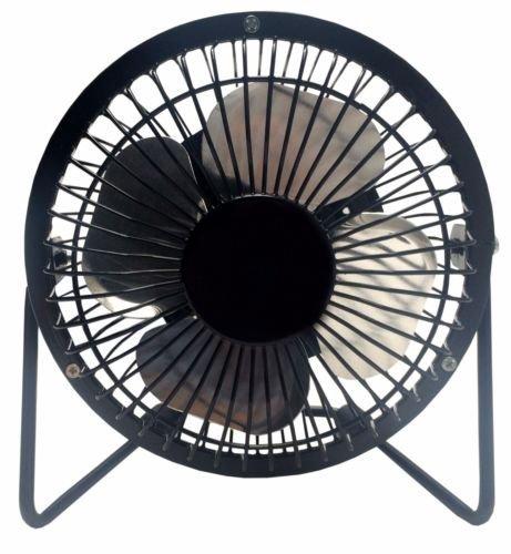 cojoy 10,2cm Mini Fan High Velocity Persönlichen Office Fan Schwarz Elektrischer Lüfter Kompaktes Design