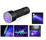 RVS Anjoet 21 LED UV Light 395-400nm LED UV Flashlight torch lamp UV adhesive curing Travel safety UV detection 3AAA