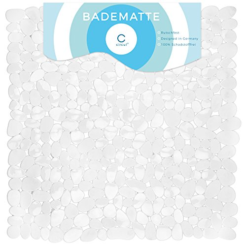 Circul Duschmatte 53 x 53 cm transparent Steinoptik