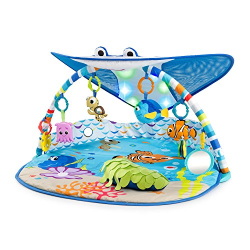 Disney Baby 11095 Mr. Ray Ocean Lights-Spieldecke, blau