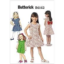 Butterick Patterns 6162 CDD - Patrón de Costura de Vestido para niña (Talla ...