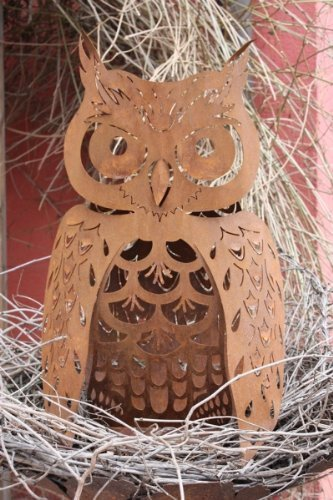Rouille noble Hibou, animal Décoration de jardin en Rouillé Métal