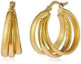 Jewel House Hoop Earrings for Women (Gol...