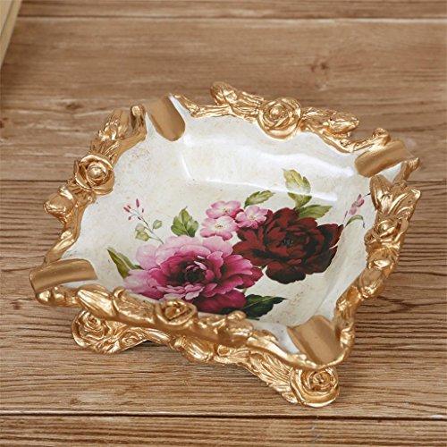 Europea portacenere stile resina intagliato rosa vita creativa della decorazione della stanza dell