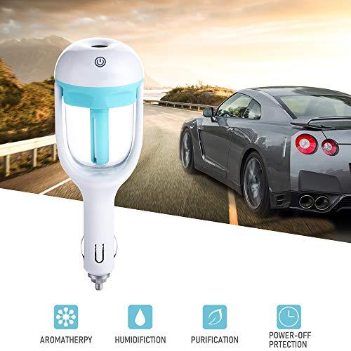 SAMMIU Auto Luftbefeuchter Lufterfrischer Luftreiniger Aromatherapie Ätherisches Öl Diffusor (Blau)