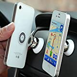Support Voiture Magnetique pour LG G3 LTE-A / G3 S / G3 S Dual / G3 Screen / G3 Stylus / G4 / G4 Beat / G4 Dual / G4 Stylus / G4c / GD350 / GD550 Pure / GD580 Lollipop / GD880 Mini / GM360 Viewty Snap / GS155 / GS290 Cookie Fresh / GS390 Prime / GS500 Cookie Plus Smartphone | Telephone | 360 degres (Blanc)