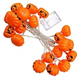 LED-Lichterketten, Kürbis-Schnur-Lichter batteriebetriebene LED, Halloween-Raum-Dekoration-Geist-Festival-dekorativer heller Batterie-Kasten LED färbte Lichter (Größe : 20lights)