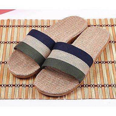 Slippers & amp da uomo;Estate laccio dietro lino casuale piani del tallone Altri Blu Verde Borgogna Coffe sandali US8 / EU40 / UK7 / CN41