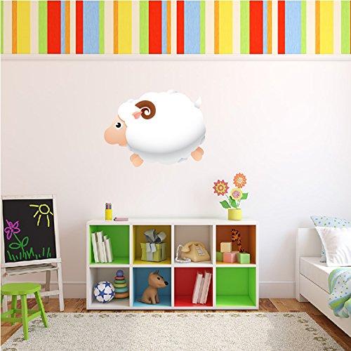 Saltando Wall Sticker Ram Digital disponibile in 8 taglie Extra Grande Digitale