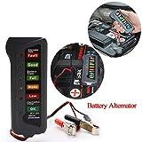 TAOtTAO 6V/24V Auto Voiture Digital testeur d'alternateur de Batterie 6lumières LED Affichage de l'Outil de Diagnostic Voitures Moto Batteries, Noir, 24V