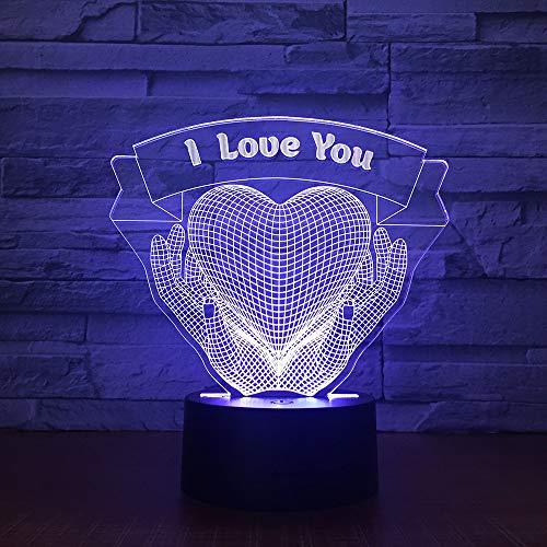 Kreative Geschenk 3d Lampe Weihnachtsschmuck Geschenk für Baby Zimmer leuchtet Großhandel Valentinstag Geschenk Led-Nachtlicht