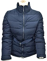 ARMANI JEANS WOMAN WINTER PADDED JACKET NIGHT BLUE OR WHITE MILK CODE 6Y5B07 40 EU - 4 USA BLU NOTTE - NIGHT BLUE