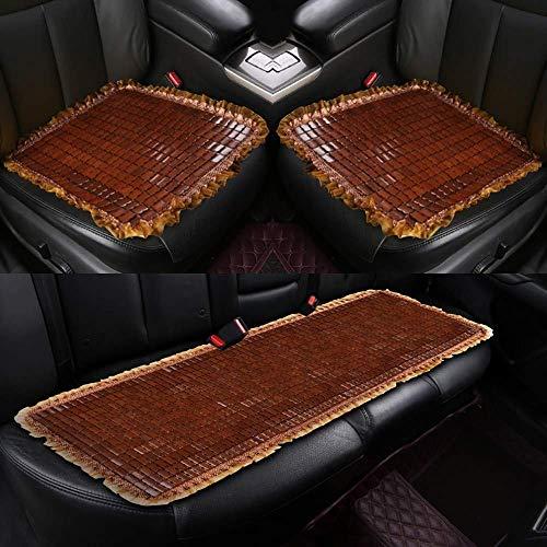 Lqqzq cuscino 3 coprisedili per auto, bamboo mahjong estivi, cuscino per sedile, schienale per auto, cuscino per sedile traspirante e rinfrescante (3 pezzi) cuscino (colore : marrone)