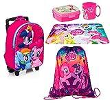 My Little Pony zainetto zaino Trolley in 3D, Sacca Sport, Set Colazione Merenda Scuola Materna Asilo Escursioni Tempo Libero