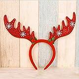 Tofree Damen Mädchen Kopfbedeckung Hübsches Hirschgeweih Stirnband für Weihnachten Neujahr Party Geschenke
