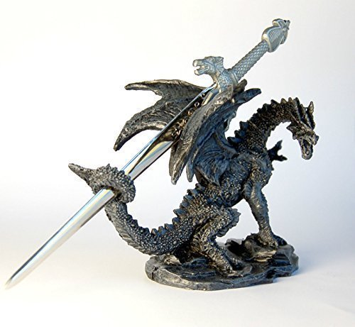 Brieföffner, Drache, Ornament, 10 cm
