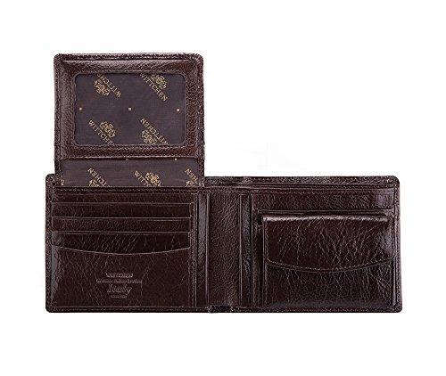 Wittchen Brieftasche | Farbe: Dunkelbraun| Material: Narbenleder| Größe: 12x9 CM, | Orientierung: Horizontal | Kollektion: Italy| 21-1-039-4 Dunkelbraun