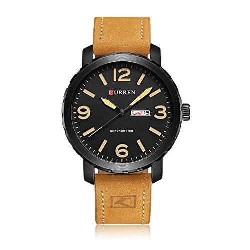 Ying xinguang Herren Brand Luxus Quarzuhr Herren Mode Freizeit Sport Uhren und Kalender Herrenuhr, 2