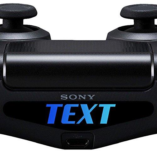 2X Sticker für PS4 Controller mit Wunschtext - Decal Aufkleber Wunsch Text Name Light Bar LED für Playstation 4 (Ps4 Led Light Bar Decal)