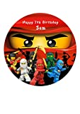 Personalisierbare Ninjago-Kuchendekoration aus Zuckerpapier, 19,1cm Ninja Kai, Rot