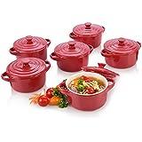 Bluespoon Ofenform Set aus Porzellan mit Deckel | Vielseitig einsetzbar für kleine Gratins, Aufläufe oder auch für Suppen | Lässt Ihre Speisen um ein Vielfaches appetitlicher erscheinen