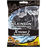 Wilkinson - Xtreme 3 Black Edition - Rasoirs jetables masculins - Pack de 10